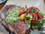 Grilled Flank Steak With Green Onion-Ginger Chimichurri