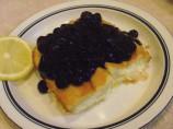 Baked Blintzes With Fresh Blueberry Sauce