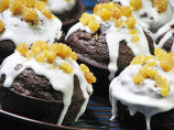Giant Pumpkin Muffins With Molasses-Ginger Glaze