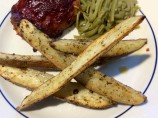Baked in Oven Garlic Potato Wedges