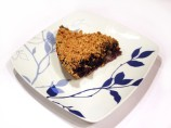 No Crust Blueberry Pie With Crumble Topping