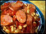 Kielbasa With Tomatoes and White Beans