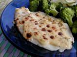 Halibut With Garlic Mayonnaise-Parmesan Topping