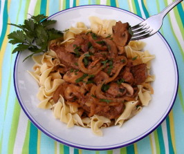 Beef Stroganoff With Cremini & Porcini Mushrooms. Photo by Mrs Goodall
