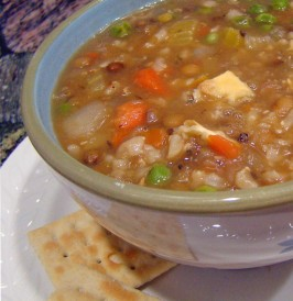 Lentil and Brown Rice Soup. Photo by Derf