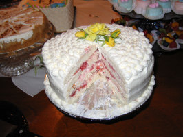 Diabetic Spring Fling Layered White Cake. Photo by Dwynnie