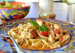 Chicken and Pasta in White Wine Garlic Sauce. Photo by Marg (CaymanDesigns)