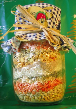 Soup Mix in a Jar. Photo by Missy Wombat