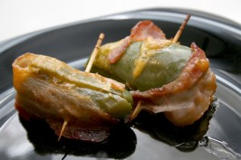 Bacon-Wrapped Jalapeno Poppers. Photo by CandyTX