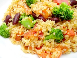 Bulgur Pilaf With Broccoli and Peppers. Photo by Inge 1505