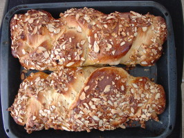 Bulgarian Easter Bread (Kozunak). Photo by Chef #334896