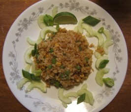 Thai Vegan Fried Rice (Khao Phad Jay). Photo by Ms*Bindy