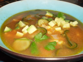 Vincent Price Sopa Poblano - Poblano Chile Soup. Photo by breezermom