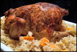 Swedish Roast Chicken With Spiced Apple Rice. Photo by NcMysteryShopper