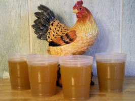 Kittencal's Best Chicken Stock/Broth (Crock Pot Option). Photo by Julie B's Hive