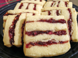 Cranberry Cherry Icebox Ribbon Cookies. Photo by justcallmetoni