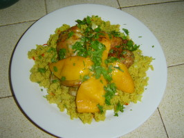 Moroccan Chicken With Preserved Lemons and Couscous. Photo by Gumboot74