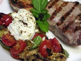 Grilled Eggplant With Ricotta and Tomato. Photo by Rita~