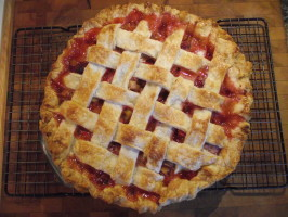 Strawberry Rhubarb Pie. Photo by Jan in Lanark