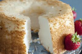 Angel Food Cake - Homemade. Photo by Dine & Dish