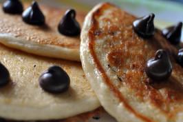 5 Minute Vegan Pancakes. Photo by TheRainbowVegan