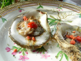Oysters Kilpatrick. Photo by Andi of Longmeadow Farm