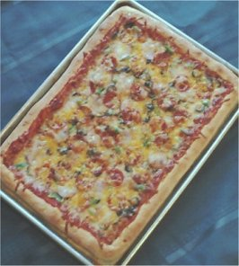 Fantabulous Family-Style Pizza. Photo by Deb's Recipes