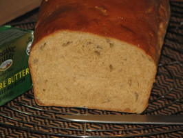 100% Whole Wheat Bread (Non-Dense/Heavy, White Bread Texture). Photo by Dimpi