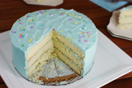 Magnolia Bakery's Vanilla Birthday Cake and Frosting. Photo by Kitchen is My Playground