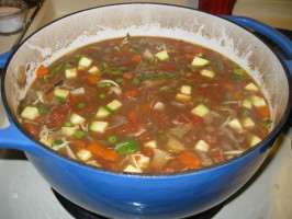 Barb's Hearty Beef and Vegetable Soup. Photo by Julia Lynn