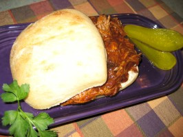 BBQ Pulled Pork Sandwiches - Sloooow Cooked in Your Crock Pot. Photo by Pellerin