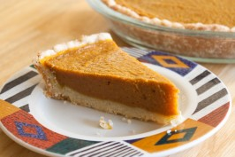 Vegan Pumpkin Pie. Photo by The Veganista