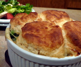 Biscuit-Topped Chicken Pot Pie. Photo by PaulaG