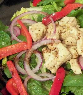 Warm Chicken Spinach Salad. Photo by Mama's Kitchen (Hope)