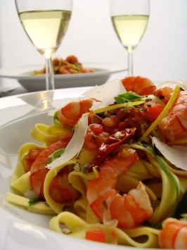 Easy Spicy Shrimp Pasta  - Low Fat. Photo by Thorsten