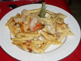 Romano's Macaroni Grill Penne Rustica by Todd Wilbur. Photo by Amy V#2