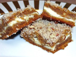 Pumpkin Cheese Praline Bars. Photo by Rita~