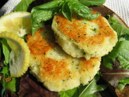 Halloumi and Couscous Cakes. Photo by flower7