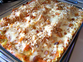 Baked Butternut Squash, Raisin and Pine Nut Lasagna. Photo by Rita~