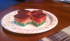 Italian Tri-Color Cookies (Rainbow Cookies). Photo by cuturen