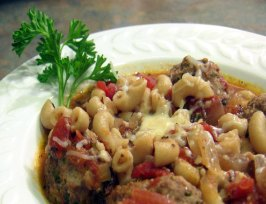 Meatball and Macaroni Stew (Low Fat/Low Cal). Photo by Derf