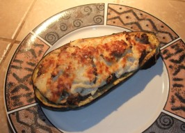 Moussaka-Style Stuffed Eggplant (Aubergine). Photo by Transplanted English Rose
