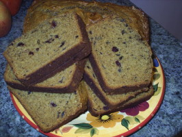 New England Harvest Cranberry Pumpkin Bread. Photo by JanetB-KY