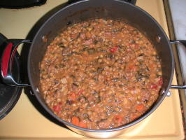 Rachael Ray's Hungarian Sausage and Lentil Stoup. Photo by Pierre Dance
