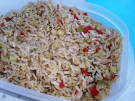 Caribbean Rice in a Rice Cooker. Photo by Karen Elizabeth