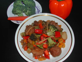 Spicy Screamin' Szechuan Stir Fry. Photo by Kumquat the Cat's friend