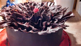 Chocolate Raspberry Ruffle Cake. Photo by username :)