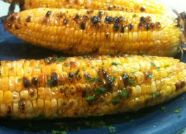 Oh so Yummy Buttery Corn With Lime and Chile  - Aka Esquites. Photo by Mama's Kitchen (Hope)