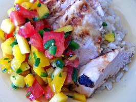 Garlic Lime Grilled Chicken With Mango Salsa. Photo by Rita~