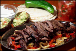 Southwestern Flat Iron Steak Fajitas. Photo by NcMysteryShopper
